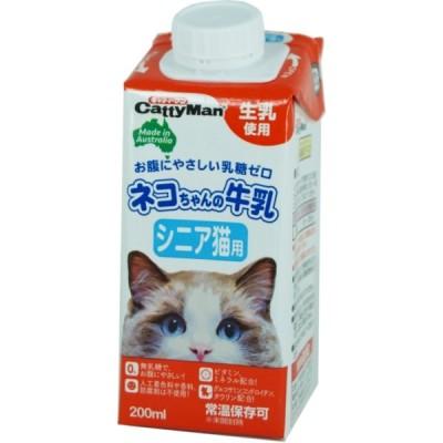 ドギーマン ネコちゃんの牛乳 シニア猫用 200ml 猫用フード