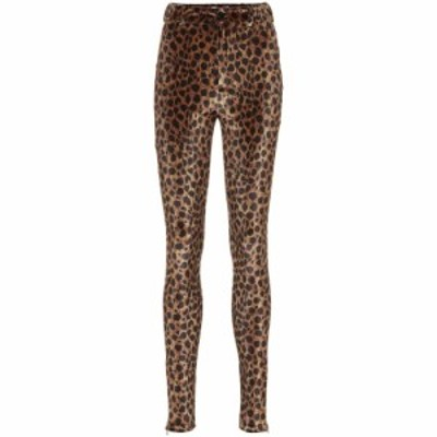 アティコ The Attico レディース ボトムス・パンツ Leopard-print stretch-velvet pants Natural