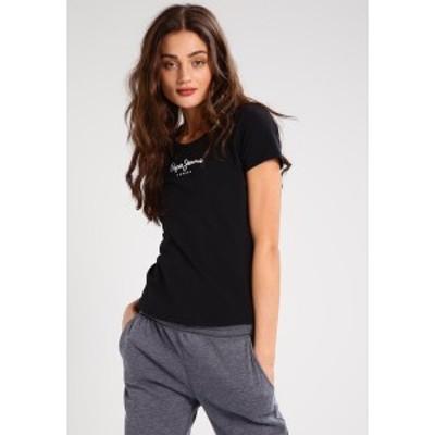 ペペジーンズ レディース Tシャツ トップス NEW VIRGINIA - Print T-shirt - black black