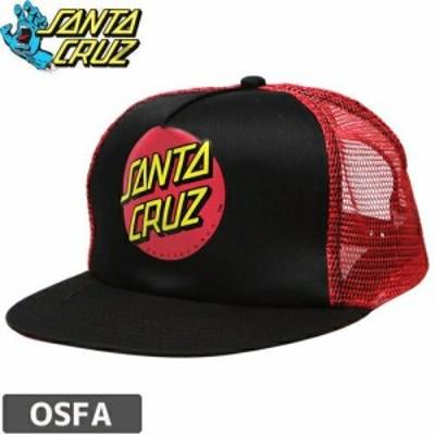 サンタクルーズ CAP SANTA CRUZ スケボー キャップ CLASSIC DOT TRUCKER MESH ブラック x レッド NO4