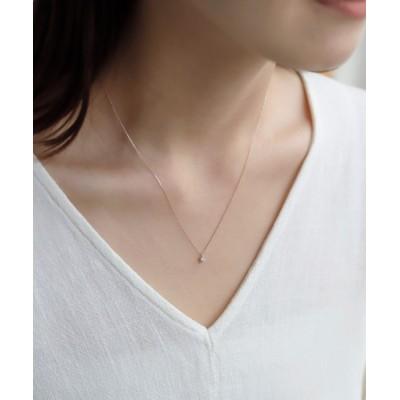 ネックレス 一粒ダイヤモンドのネックレス[0.1ct][ロゼチナ]