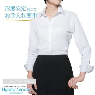 レディースシャツ 長袖 形態安定 標準型 HeartMadeShirts P31HMA291
