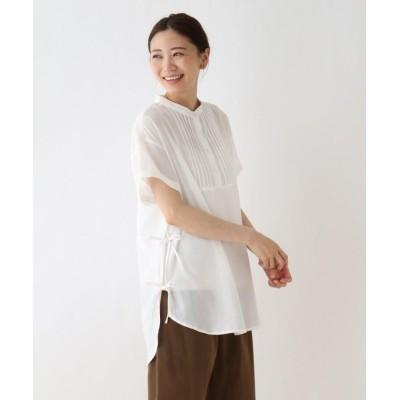 【シューラルー】 タックサイドリボンブラウス レディース オフホワイト 02(M) SHOO・LA・RUE