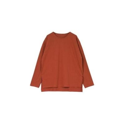 ティティベイト titivate カットソー長袖ロングTシャツ (ダークオレンジ)