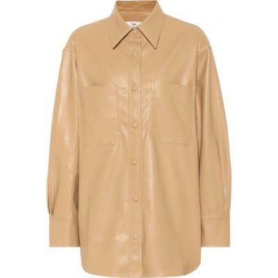 フランキー ショップ Frankie Shop レディース ブラウス・シャツ トップス Yoyo Faux Leather Shirt Honey
