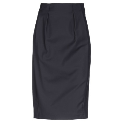 ANNIE P. ひざ丈スカート ブラック 38 コットン 48% / ナイロン 46% / ポリウレタン 6% ひざ丈スカート