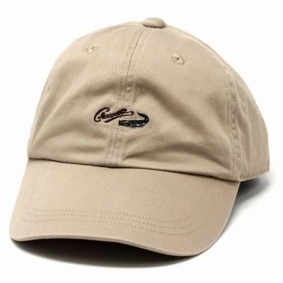 キャップ 春夏 キャップ メンズ 帽子 メンズ 夏 綿100% CROCODILE CAP ワニ ロゴ 刺繍 ウォッシュドツイル カジュアル 手洗い可能 ベージュ 父の日