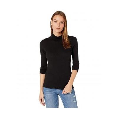 LAmade エルエーメイド レディース 女性用 ファッション Tシャツ Roosevelt Vintage Stretch Jersey Turtleneck - Black