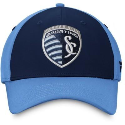 ファナティクス 帽子 アクセサリー メンズ Fanatics Sporting Kansas City Iconic Defender STR FlexFit Cap Navy/Light Blue