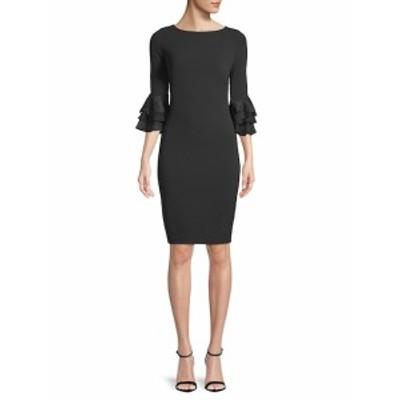 カルバンクライン レディース ワンピース Lace-Trimmed Bell-Sleeve Dress