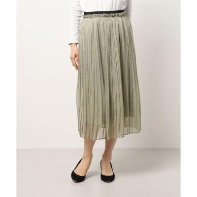 スカート 楊柳シフォンプリーツスカート(着丈80cm)