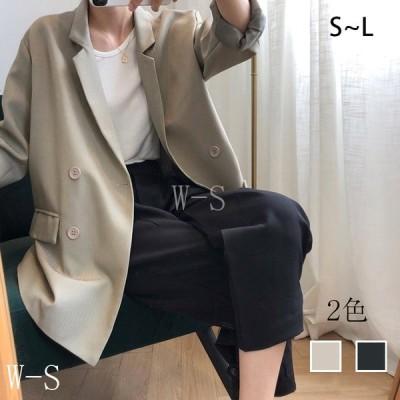 テーラードジャケットレディース春秋スーツジャケットフォーマルテーラードジャケットアウター無地カジュアルゆったり通勤通学韓国風
