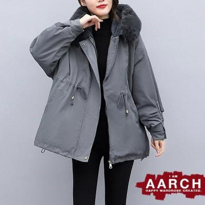 大きいサイズ レディース ファッション コート アウター ぽっちゃり おおきいサイズ あり 袖タック 裏ボア あったか防寒 ファー付きフード L LL 3L 4L 5L 秋冬