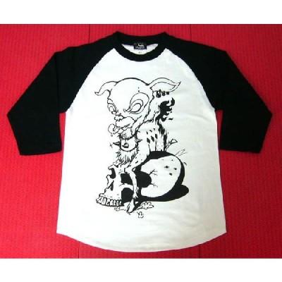 コアバンビ ラグランスリーブ(7分袖) -Z- Rock ロックTシャツ ハードコア スカル Skull 子鹿 ドクロ 七分袖