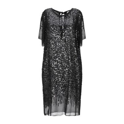 セミクチュール SEMICOUTURE ミニワンピース&ドレス ブラック 38 レーヨン 100% ミニワンピース&ドレス