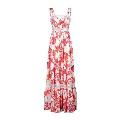 W LES FEMMES by BABYLON ロングワンピース&ドレス コーラル 42 ナイロン 100% ロングワンピース&ドレス