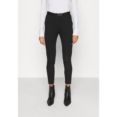 アンナフィールド カジュアルパンツ レディース ボトムス Punto Smart Trouser With Belt - Trousers - black