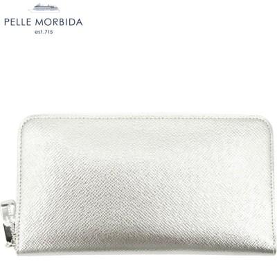 PELLE MORBIDA ペッレモルビダ バルカ 型押しレザー ラウンドジップ長財布 BARCA PMO-BA302 GLD(シャンパンゴールド)