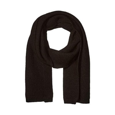 Steve Madden Men's Knit Scarf, black, One Size【並行輸入品】