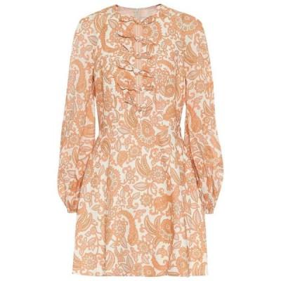 ジマーマン Zimmermann レディース ワンピース ワンピース・ドレス Peggy printed linen minidress Orange Paisley