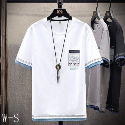 夏服メンズtシャツメンズ半袖おしゃれ夏メンズtシャツ綿カジュアルトップス大きいサイズtシャツ