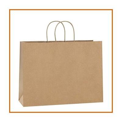 送料無料 BagDream 100Pcs 16x6x12 Inches Kraft Paper Bags with Handles Bulk Gift Bags Shopping Bags for Grocery, Mechandise, Party, 100%
