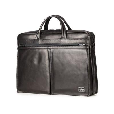 【カバンのセレクション】 吉田カバン ポーター アメイズ ビジネスバッグ メンズ ブランド 本革 拡張 2WAY A4 PORTER 022-03785 ユニセックス ブラック フリー Bag&Luggage SELECTION