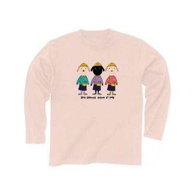 なんとか3姉妹 長袖Tシャツ(ライトピンク)