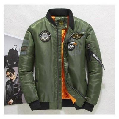 ミリタリージャケットャケット MA-1 ジャケット メンズ ミリタリージコート 中綿コート MA1 ブルゾン 防風 中綿入り ジャンパー 秋冬 暖かい 大きいサイズ