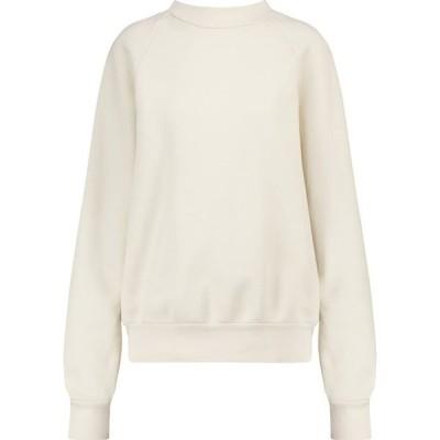 レス ティエン Les Tien レディース スウェット・トレーナー トップス Cotton fleece mockneck sweatshirt Ivory