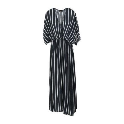 クリスティーズ CHRISTIES ロングワンピース&ドレス ブラック S レーヨン 100% ロングワンピース&ドレス