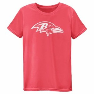 Outerstuff アウタースタッフ スポーツ用品  Baltimore Ravens Girls Youth Pink Neon Logo T-Shirt