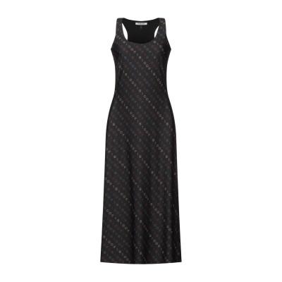 FISICO 7分丈ワンピース・ドレス ブラック M ナイロン 86% / ポリウレタン 14% 7分丈ワンピース・ドレス