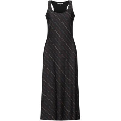FISICO 7分丈ワンピース・ドレス ブラック S ナイロン 86% / ポリウレタン 14% 7分丈ワンピース・ドレス
