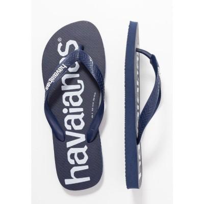 ハワイアナス サンダル メンズ シューズ TOP LOGOMANIA UNISEX - Pool shoes - navy blue