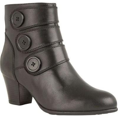 ロータス Lotus Shoes レディース ブーツ ショートブーツ シューズ・靴 Locasta Heeled Ankle Boots Black Leather