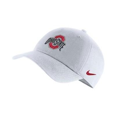 ナイキ メンズ 帽子 アクセサリー Ohio State Buckeyes Core Easy Adjustable Cap White