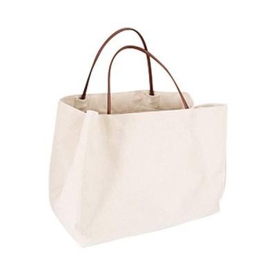 (SOWAKA) トートバッグ レディース 大容量 キャンバス 帆布 ベジバッグ シンプル デイリー バッグ (ホワイト)