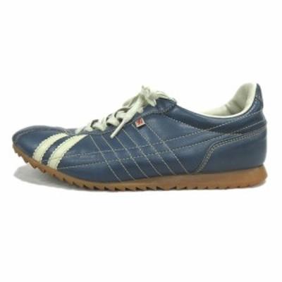 【中古】パトリック PATRICK SULLY シュリー フェイクレザー スニーカー シューズ 靴 26502 38 青 ブルー♪5