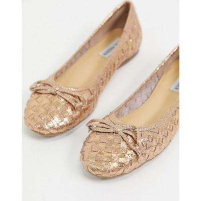 スティーブ マデン Steve Madden レディース スリッポン・フラット バレエシューズ シューズ・靴 Katharina flat ballet shoes in rose gold ローズゴールド
