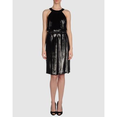 VERSACE ミニワンピース&ドレス ブラック 42 ナイロン  70% / シルク 30% ミニワンピース&ドレス