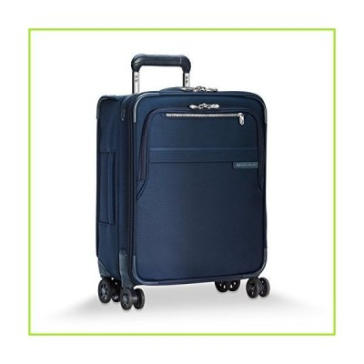 Briggs & Riley Baseline-Softside CX Expandable Wide-Body Carry-On Spinner Luggage, Navy, 21-Inch【並行輸入品】