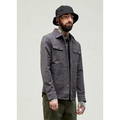 欧米風 ジャケット コート  無地 シンプル  カジュアル  メンズ    大きいサイズ パーカー プルオーバー アメカジ ストリート トップ