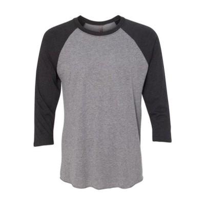 メンズ 衣類 トップス Next Level Mens Triblend Three-Quarter Sleeve Raglan T-Shirt Tシャツ