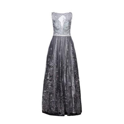 MUSANI COUTURE ロングワンピース&ドレス グレー 42 ポリエステル 100% ロングワンピース&ドレス