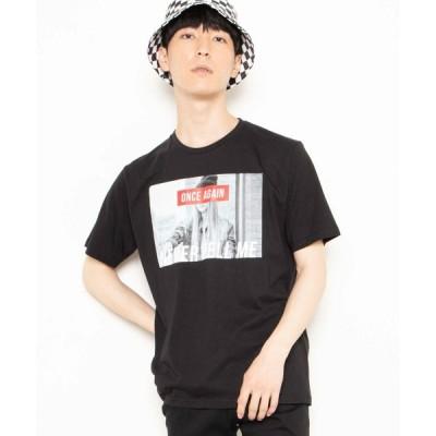 【ウィゴー】WEGO/モノトーンガールフォトボックスTシャツ