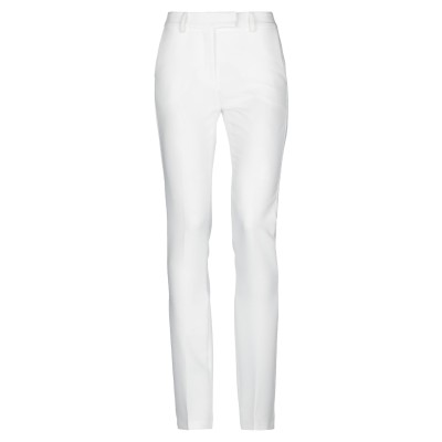NORA BARTH パンツ ホワイト 40 ポリエステル 75% / レーヨン 19% / ポリウレタン 6% パンツ