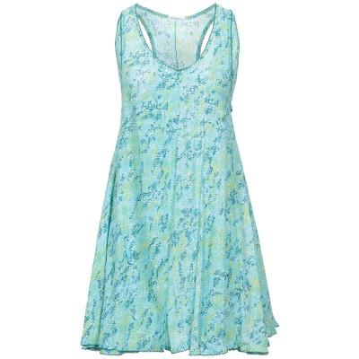 POUPETTE ST BARTH ミニワンピース&ドレス スカイブルー S レーヨン 100% ミニワンピース&ドレス