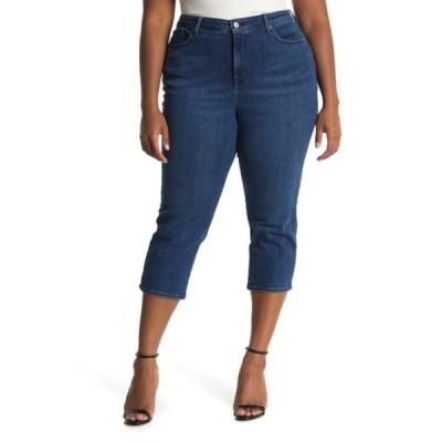 エヌワイディージェイ レディース デニムパンツ ボトムス Back Petal Hem Capri Jeans (Plus Size) HABANA