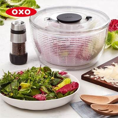 美國OXO 按壓式蔬菜香草脫水器(新版)(快)